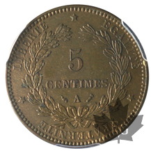 FRANCE-1893A-5 CENTIMES-Cérès-PCGS MS63BN
