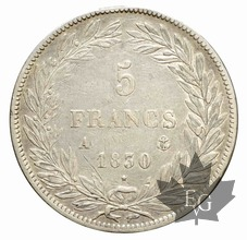FRANCE-1830A-5 Francs Louis-Philippe  G. 675  TTB
