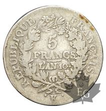 FRANCE-1801-5 Francs An 10K  Union et Force  TB