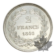FRANCE-1848A-2 FRANCS-LOUIS PHILIPPE-SUP-FDC