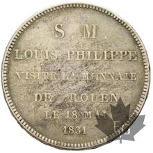 France-1831-module de 5 francs de Domard-Louis Philippe-SUP