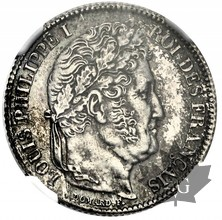 FRANCE-1840 A-1 FRANC-LOUIS PHILIPPE-NGC MS62