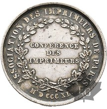 FRANCE-1840-JETON-ASSOCIATION DES IMPRIMEURS DE PARIS-SUP