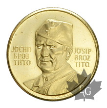 YUGOSLAVIE-Médaille en or-1973- TITO-PROOF