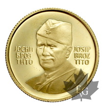 YUGOSLAVIE-Médaille en or-1983- TITO-PROOF