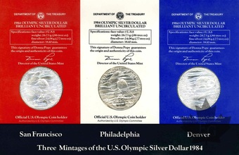 USA-COMPLETE SILVER DOLLAR SET-1984-FDC