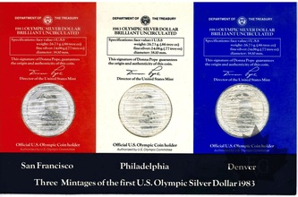 USA-COMPLETE SILVER DOLLAR SET-1983-FDC