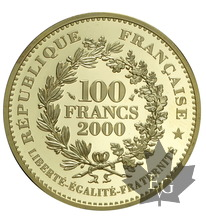 FRANCE-2000-100 Francs Or-Le Franc à Cheval-Jean II Le Bon-PROOF