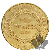 FRANCE-1905 A-100 FRANCS-III REPUBLIQUE-TTB-SUP