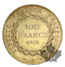 FRANCE-1901-100 FRANCS-III RÉPUBLIQUE-SUP-FDC