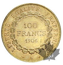 FRANCE-1906-100 FRANCS-III RÉPUBLIQUE-SUP