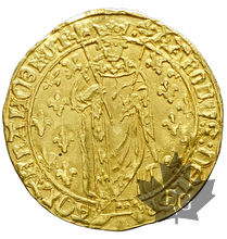 FRANCE-CHARLES VII-1422-1461-ROYAL D'OR-Tours-presque SUP