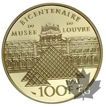 FRANCE-1993-100 FRANCS-BICENTENAIRE LOUVRE-PROOF