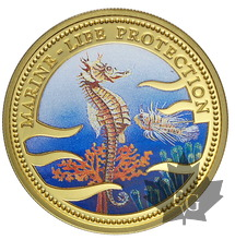 PALAU-1995-200 Dollars-MARINE LIFE PROTECTION-PROOF