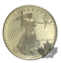 USA-1990-1 ONCE or-1 OZ Gold-50 Dollars-PROOF