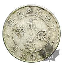 CHINE-20 CENT-1920 Year 9-TTB