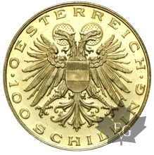AUTRICHE-1936-100 SCHILLING-Proof Like