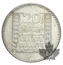 FRANCE-1937-20 FRANCS TURIN-SUP