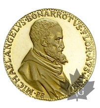 FRANCE-Médaille en or Michelangelo Buonarroti-PROOF