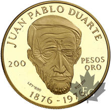 République Dominicaine-1977-200 Pesos-Juan Pablo Duarte-PROOF