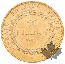 FRANCE-1904-50 FRANCS-III République-PCGS MS63