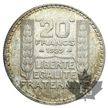FRANCE-1929-20FRANCS TURIN-SUP+