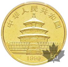 CHINE-1990-50 YUAN-Large Date-PCGS MS69
