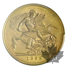 AFRIQUE DU SUD-1929-Sovereign-PCGS MS63