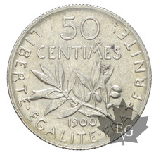 FRANCE-1900-50 CENTIMES-SEMEUSE-SUP