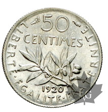 FRANCE-1920-50 CENTIMES-SEMEUSE-FDC