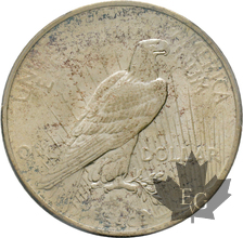 USA-1922-1 DOLLAR-PEACE-PCGS AU58