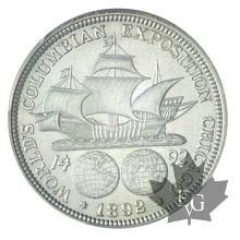 USA-1892- 50C Columbian-Sup-AU