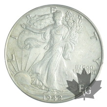 USA-1942-HALF DOLLAR-WALKING LIBERTY-