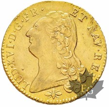 FRANCE-1786D-DOUBLE LOUIS D'OR TÊTE NUE-Louis XVI-SUP