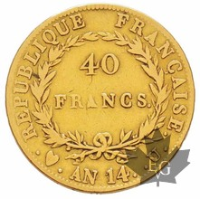 FRANCE-AN 14 U-40 FRANCS-TURIN-TB