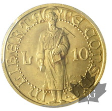 SAINT MARIN-1925-10 LIRE or-PCGS MS65