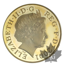 GRANDE BRETAGNE-2001-5 POUNDS-VICTORIA-PCGS PROOF 67 DEEP CAMEO