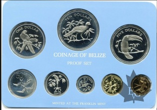BELIZE-1976-PROOF SET- SÉRIE BE