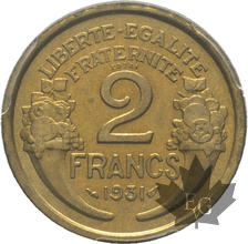 FRANCE-1931-2 FRANCS Morlon-ESSAI-PCGS SP64