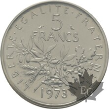 FRANCE-1973-5-FRANCS-SEMEUSE-PIEFORT-FDC