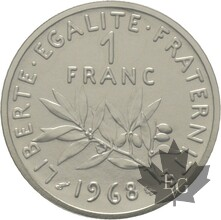 FRANCE-1968-1-FRANC-PIEFORT-FDC