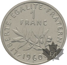 FRANCE-1960-1-FRANC-PIEFORT-FDC