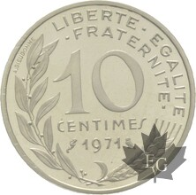 FRANCE-1971-10-CENTIMES-ARGENT-MARIANNE-PIEFORT-FDC