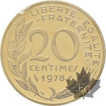 FRANCE-1978-20-CENTIMES-MARIANE-PIEFORT-FDC
