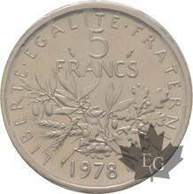 FRANCE-1978-5-FRANCS-SEMEUSE-PIEFORT-FDC