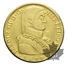 CHILE-1811 SO FJ-8 ESCUDOS-Ferdinand VII-Santiago-presque SUP