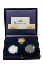 FRANCE-1997-COFFRET-100-FRANCS-ARGENT-ET-OR-BE