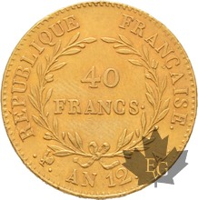 FRANCE-AN 12 A-40 FRANCS-PREMIER CONSUL-Superbe