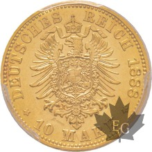 ALLEMAGNE-PRUSSIA-1888-10 MARKS-PCGS MS62