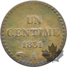 FRANCE-1851 A - UN CENTIME DUPRÉ-II RÉPUBLIQUE-TTB+